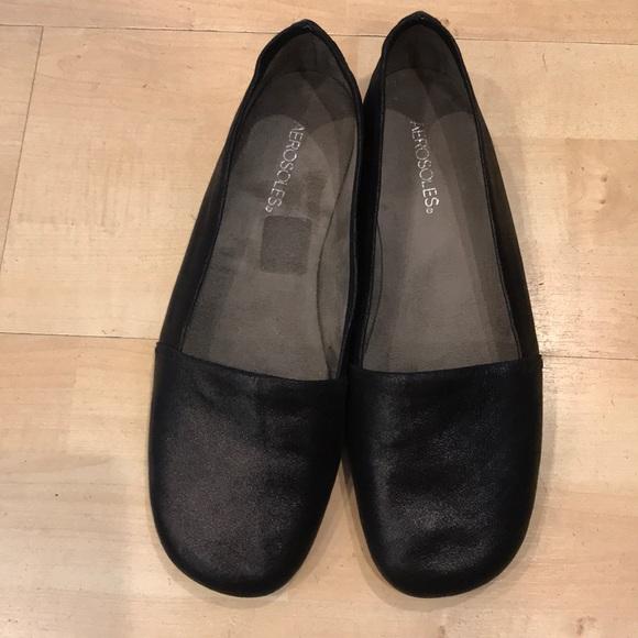 Aerosoles Mr Softee Black Leather Wide